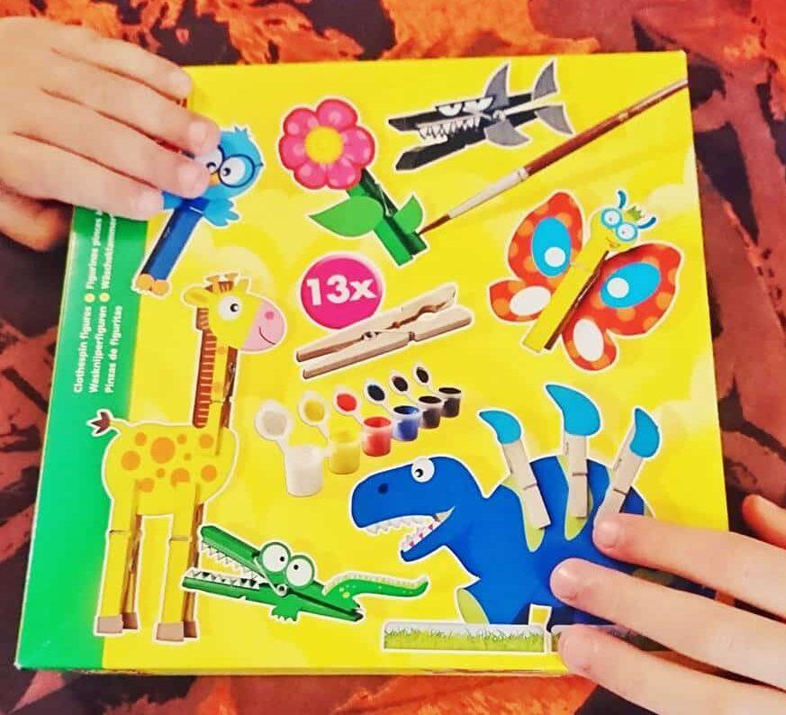 activités créatives SES Figurines pince à linge - SES 14903 Figurine pour enfants fabriquent votre propre pince à linge