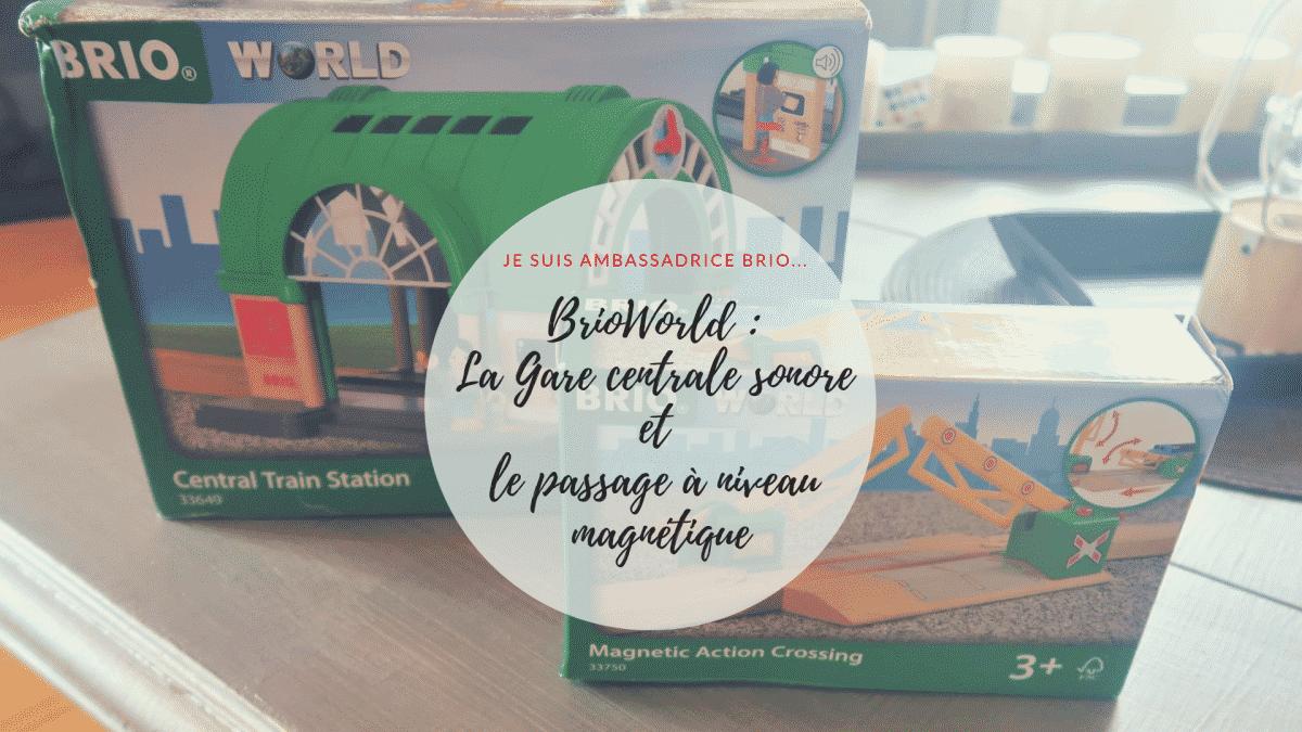 BrioWorld Gare centrale sonore passage à niveau magnétique - Boîte à outils créative BOOST LEGO 17101