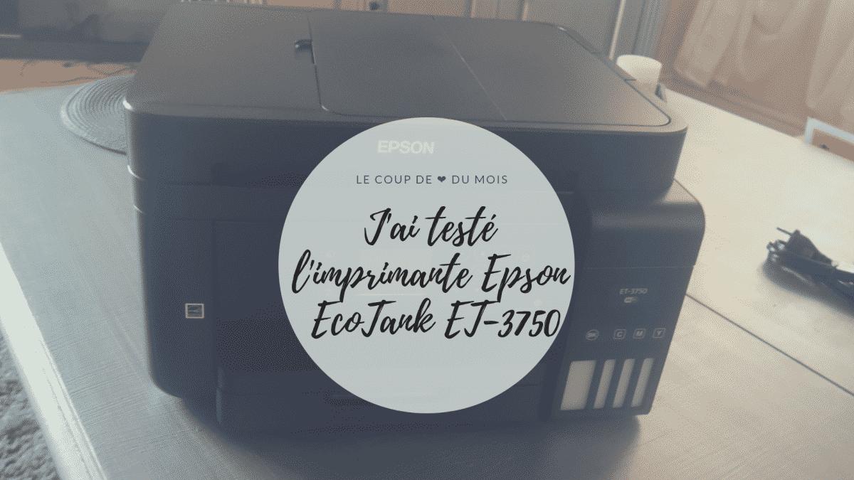 imprimante Epson EcoTank ET-3750 - Epson EcoTank ET-3750