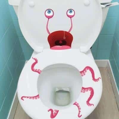 stickers effrayants pour les toilettes9548